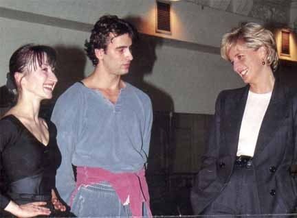 With Princess Diana